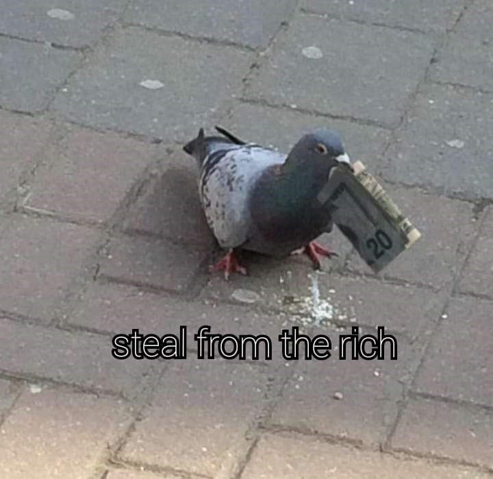 Pigeons and doves - steal from the rich 20