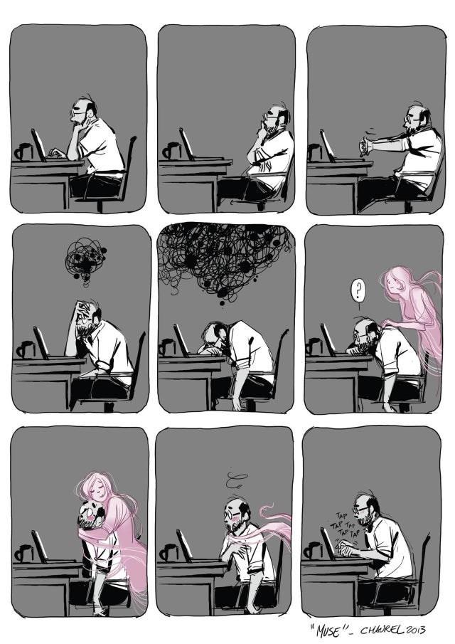 "Cartoon - ""MUSE""- CHAREL 2013"