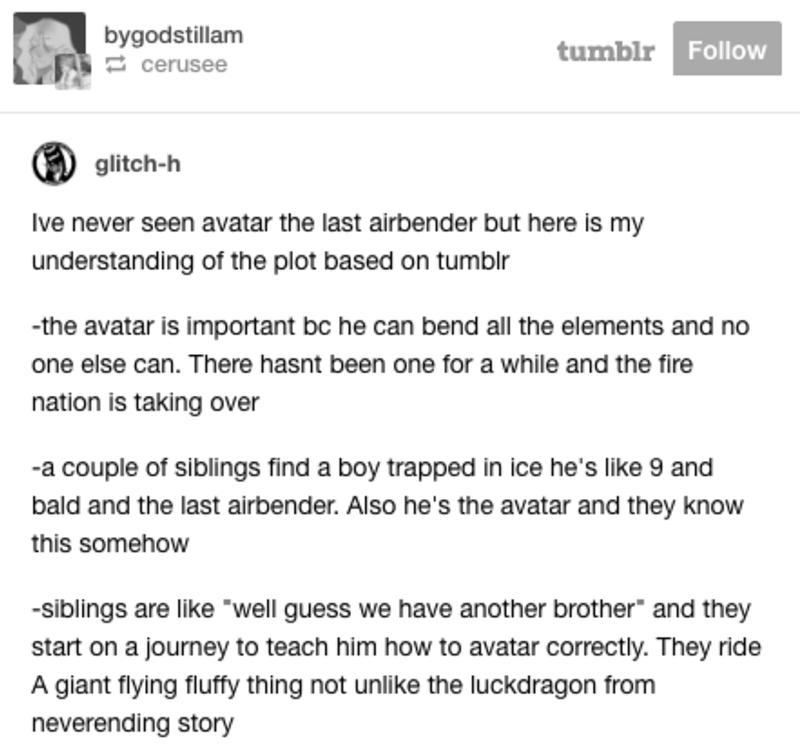 Tumblr Thread Avatar The Last Airbender Plot Osmosis Fail Blog Funny Fails