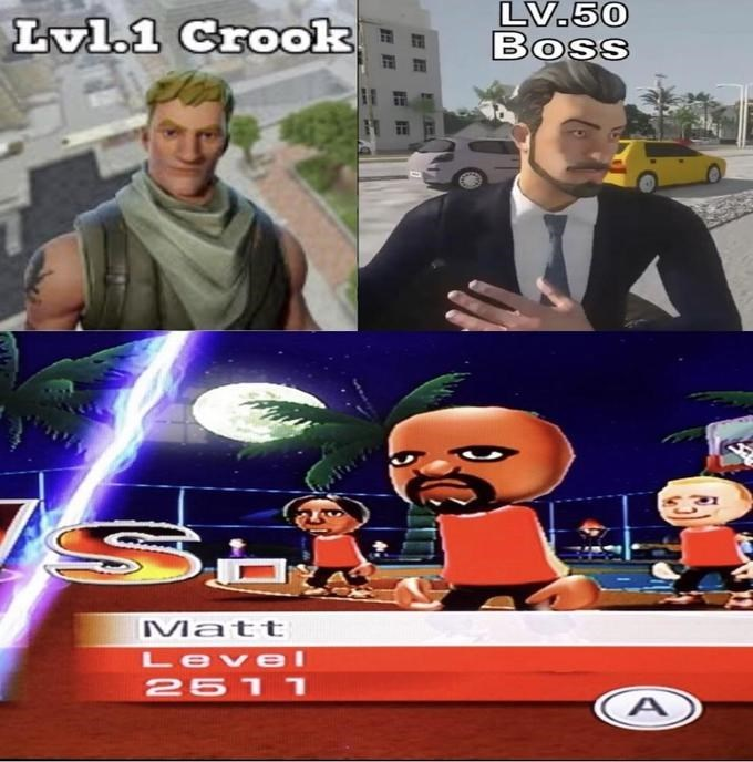 Games - Lvl.1 Crook LV.50 Boss M att Level 2511 A