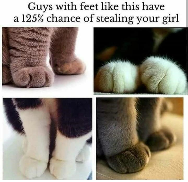 Fur - Guys with feet like this have a 125% chance of stealing your girl