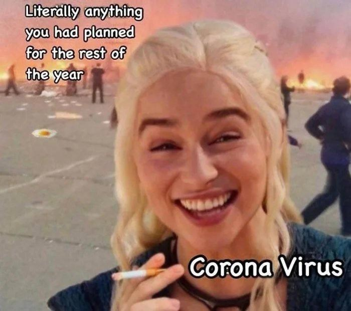 Face - Literälly anything you had planned for the rest of the year Corona Virus