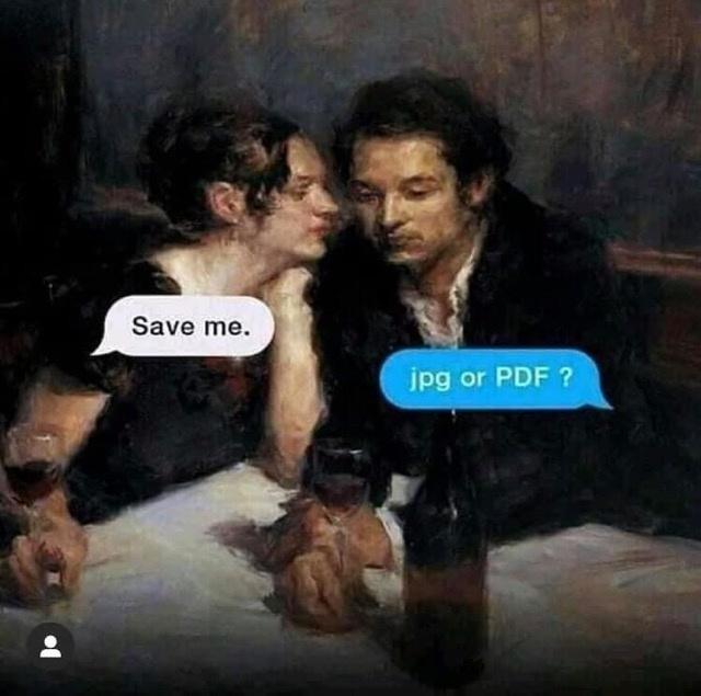Interaction - Save me. jpg or PDF ?