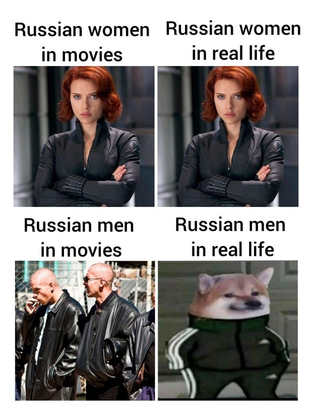 Leather - Russian women Russian women in movies in real life Russian men Russian men in movies in real life