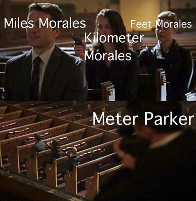 Font - Miles Morales Feet Morales Kilometer Morales Meter Parker