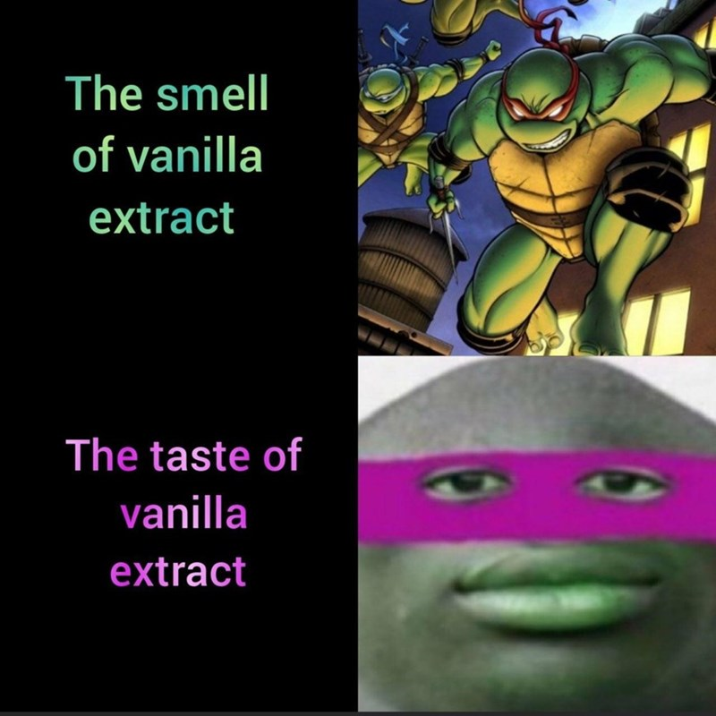 Fictional character - The smell of vanilla extract The taste of vanilla extract