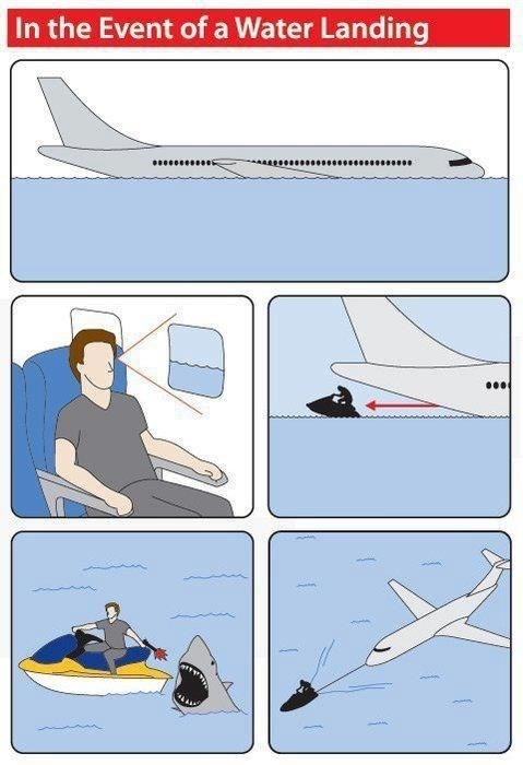 Line - In the Event of a Water Landing