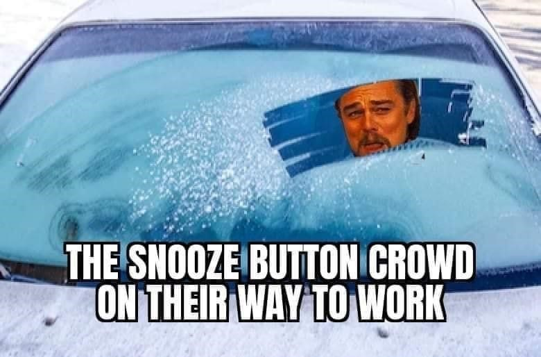 Motor vehicle - THE SNOOZE BUTTON CROWD ON THEIR WAY TO WORK