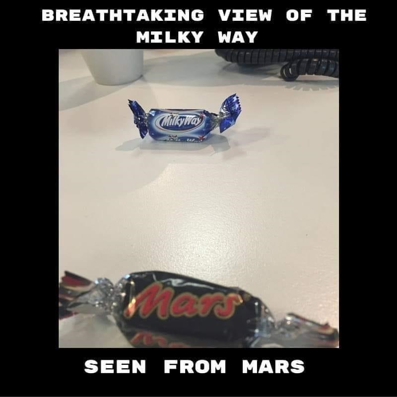 Font - BREATHTAKING VIEW OF THE MILKY WAY Milkywa Mars SEEN FROM MARS