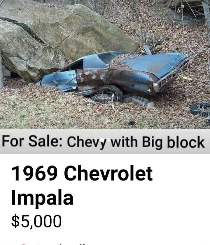 Soil - For Sale: Chevy with Big block 1969 Chevrolet Impala $5,000