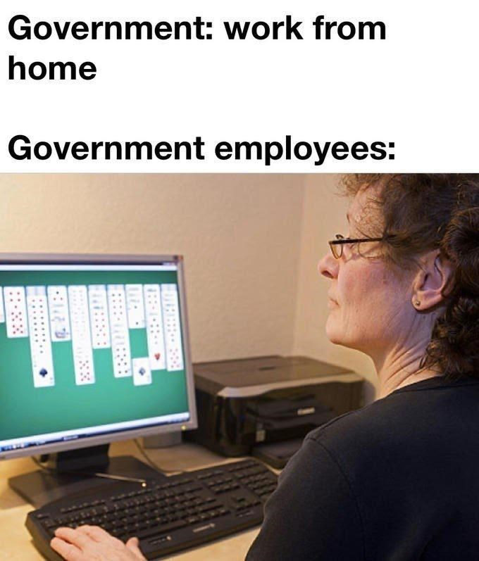 Output device - Government: work from home Government employees: