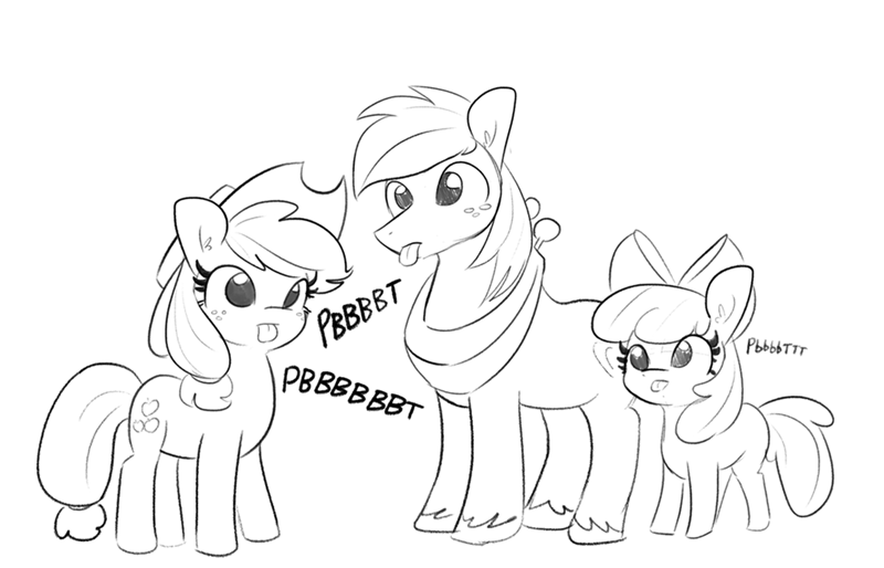applejack blep tj pones apple bloom Big Macintosh - 9574820352