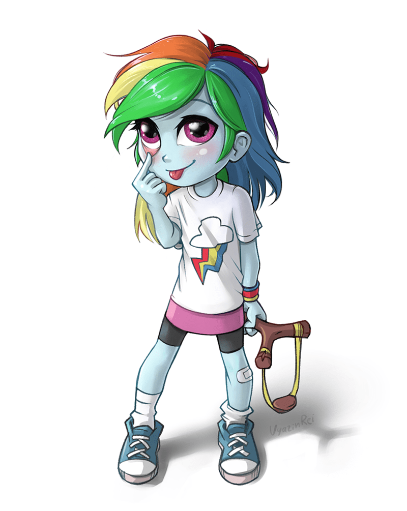 blep equestria girls vyazin rei rainbow dash - 9574821376