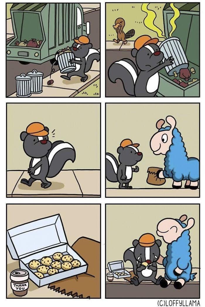 """Cartoon - """","""" ... THANK YOU taaaaaa (C)LOFFYLLAMA"""