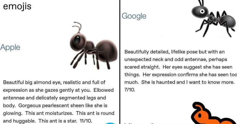 Entomologist reviews ant emojis.