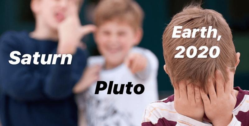People - Earth, Saturn 2020 Pluto