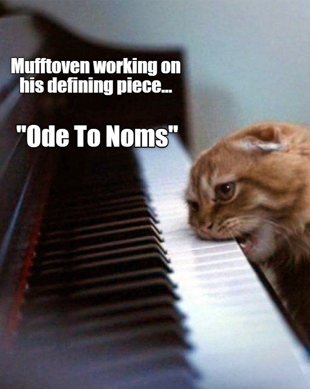 "Mufftoven working on his defining piece ""Ode To Noms"" 
