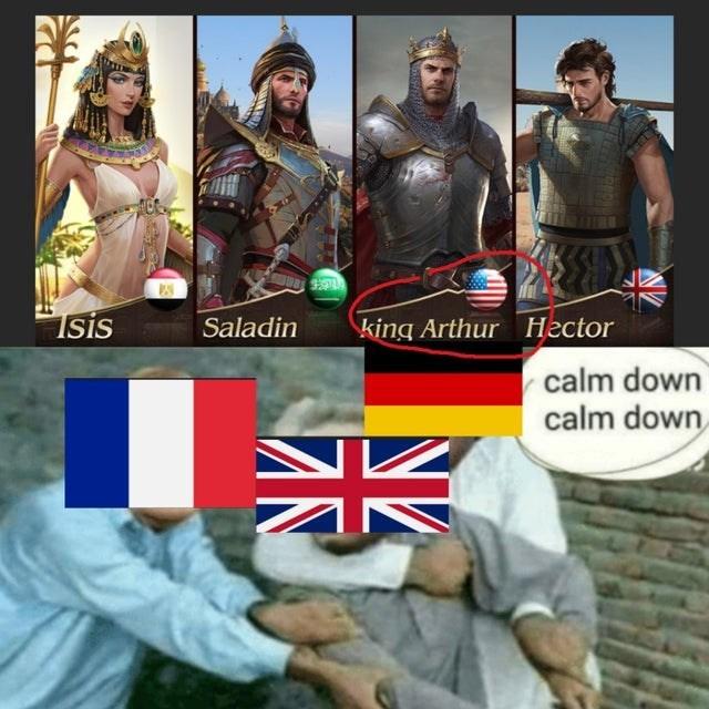 Games - Isis Saladin king Arthur Hector calm down calm down