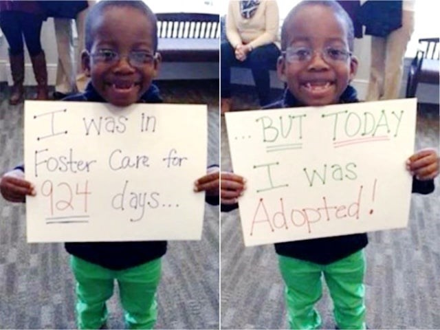 Text - I was in Foster Care for 924 days. BUT TODAY I was Adopted!