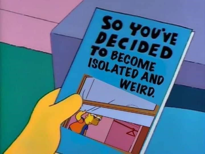 funny memes, funny, memes, relatable, simpsons memes | SO YOU'VE DECIDED TO BECOME ISOLATED AND WEIRD