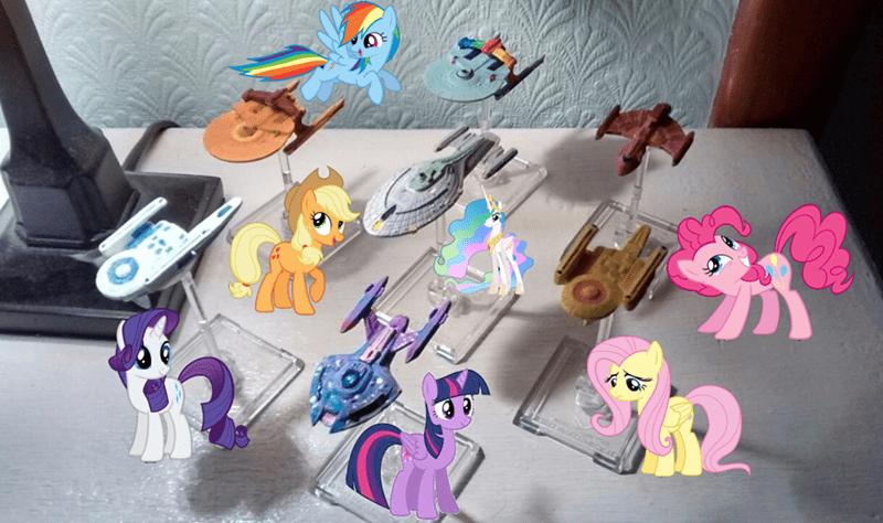 applejack twilight sparkle pinkie pie rarity Star Trek princess celestia fluttershy rainbow dash - 9576424960