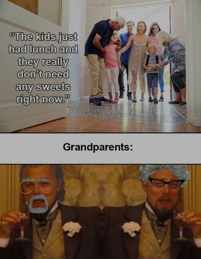 """Eyewear - Jenvaroen eteld """"The kids just had lunch and evele they really don't need any sweets right now."""" vatoBe envatoe Grandparents: envalo"""
