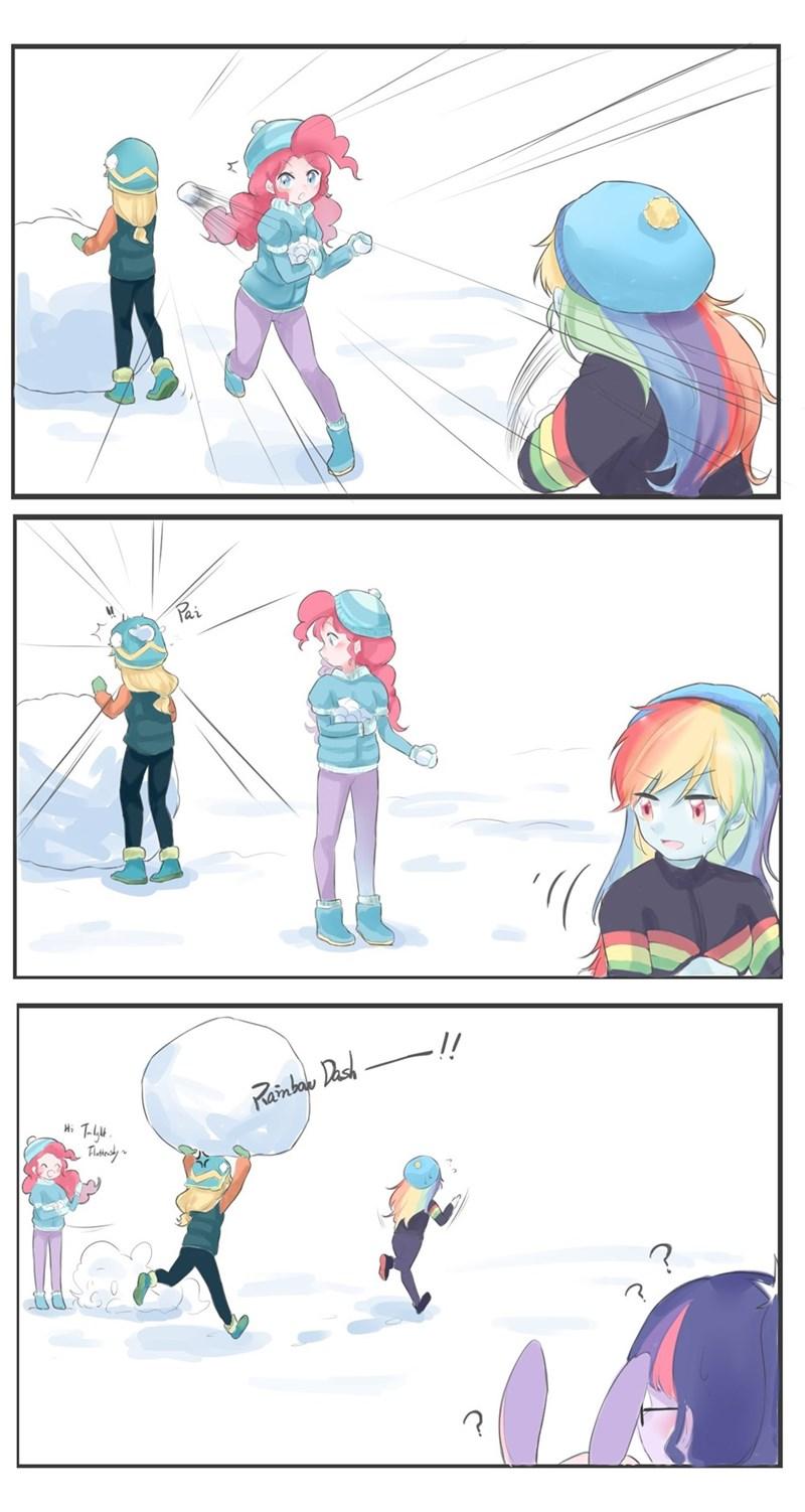 applejack equestria girls yuan-rino pinkie pie rainbow dash - 9576630784