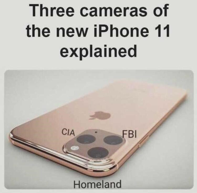 Electronic device - Three cameras of the new iPhone 11 explained CIA FBI Homeland