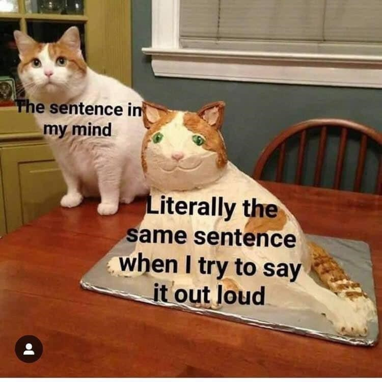 Wood - The sentence in my mind Literally the same sentence when I try to say it out loud