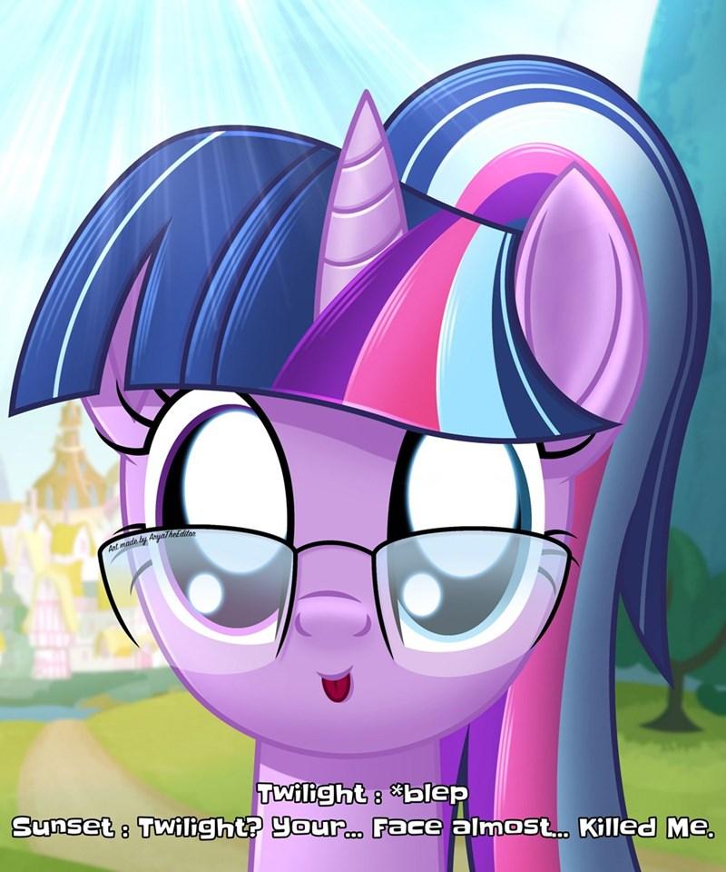 blep equestria girls scitwi twilight sparkle sunset shimmer - 9577257472