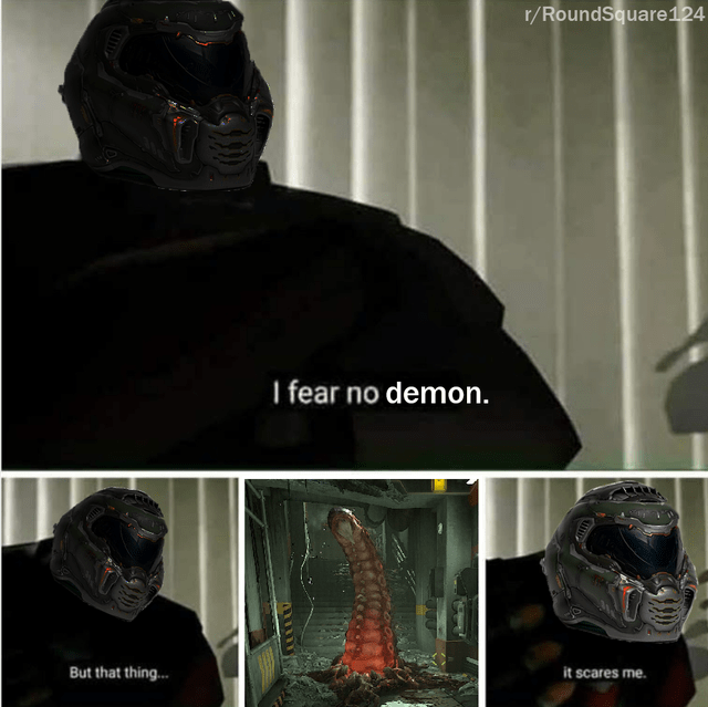 Headgear - r/RoundSquare124 I fear no demon. But that thing.. it scares me.