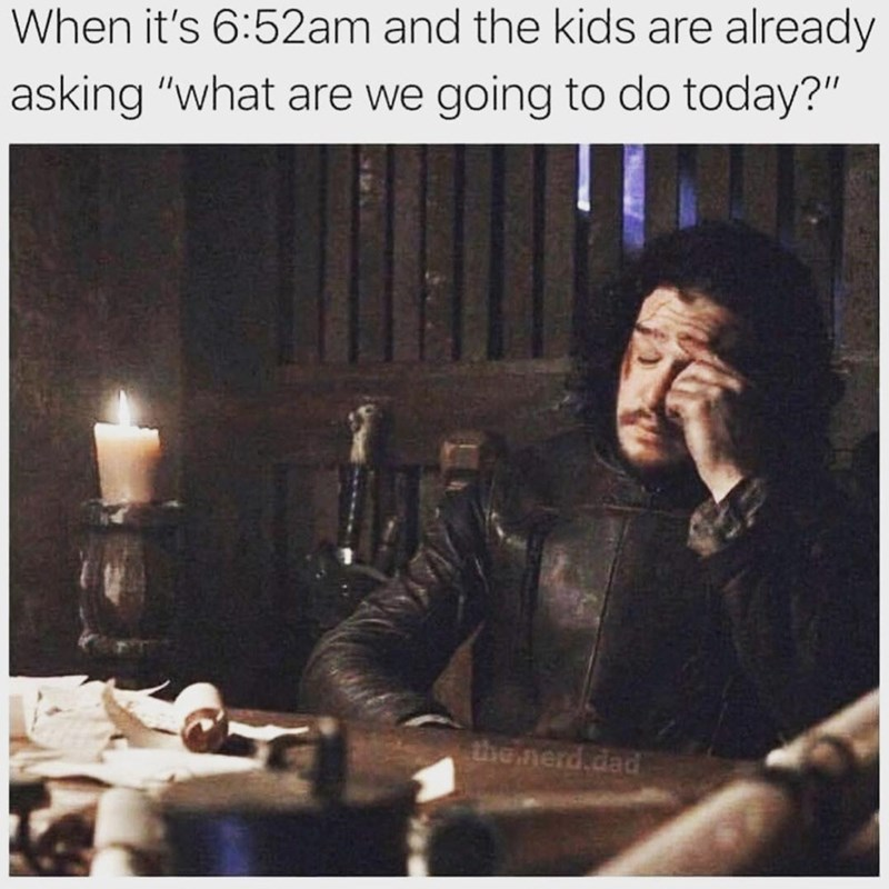 """Candle holder - When it's 6:52am and the kids are already asking """"what are we going to do today?"""" the nerd,dad"""