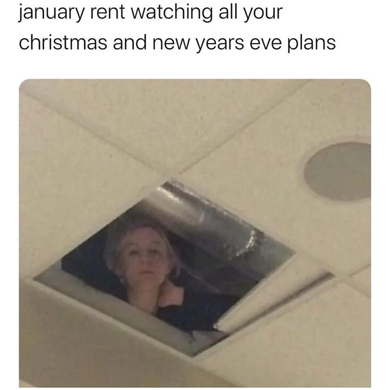 Eyebrow - january rent watching all your christmas and new years eve plans