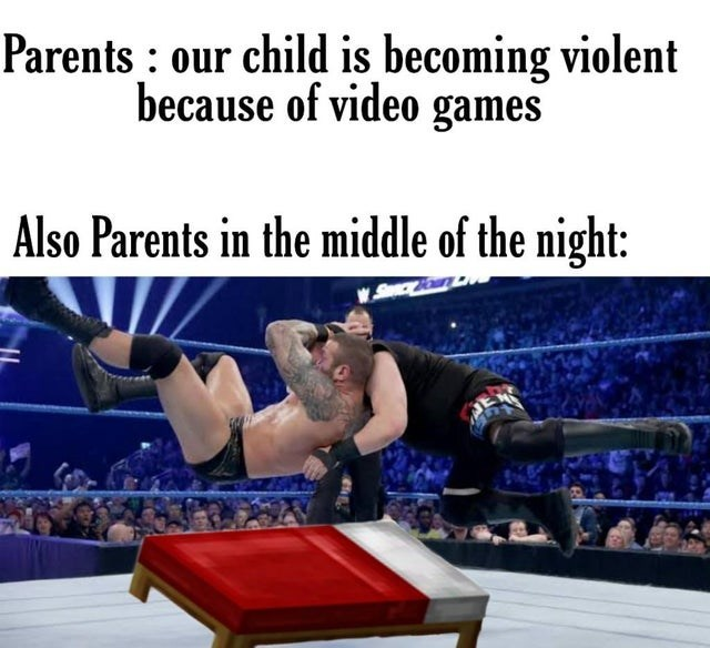 Human leg - Parents : our child is becoming violent because of video games Also Parents in the middle of the night: