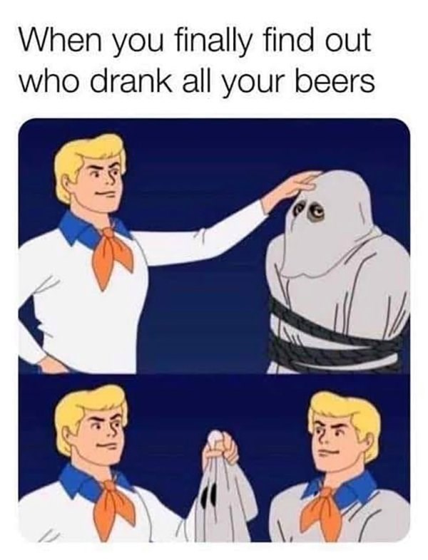 Finger - When you finally find out who drank all your beers