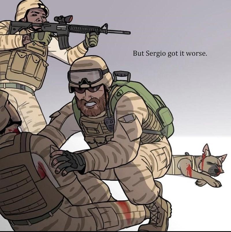Soldier - But Sergio got it worse.