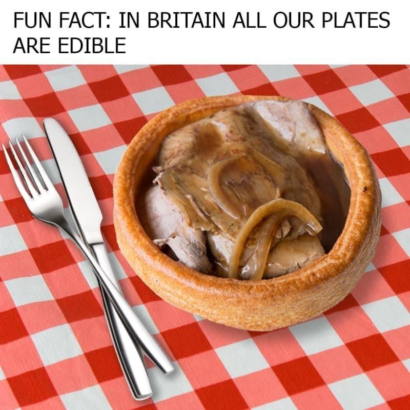 Dishware - FUN FACT: IN BRITAIN ALL OUR PLATES ARE EDIBLE