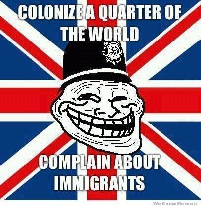 Jaw - COLONIZEA QUARTER OF THE WORLD COMPLAIN ABOUT IMMIGRANTS We KnowMe mes