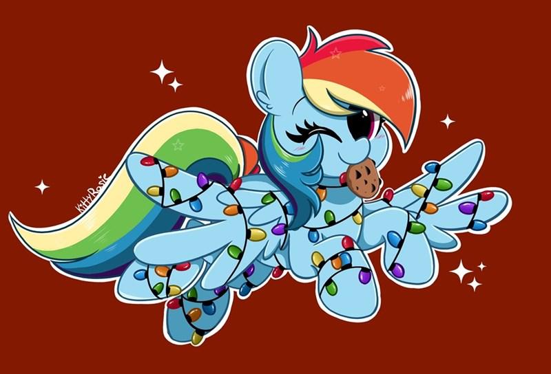 christmas kitty rosie rainbow dash - 9580543232
