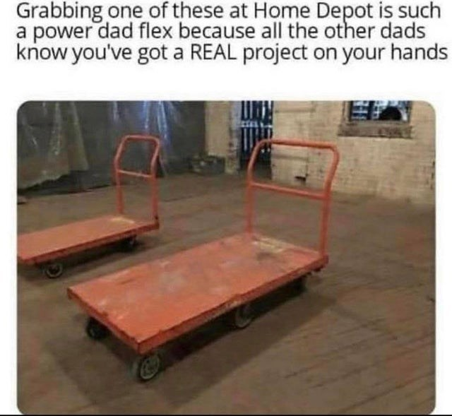 Wood - Grabbing one of these at Home Depot is such a power dad flex because all the other dads know you've got a REAL project on your hands