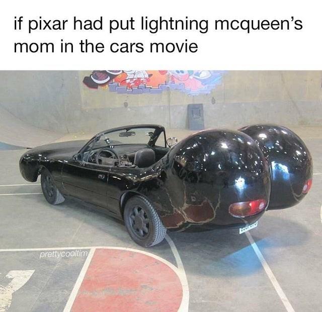 Motor vehicle - if pixar had put lightning mcqueen's mom in the cars movie prettycooltim