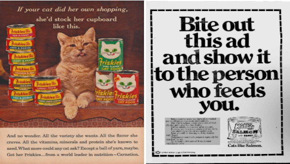 vintage cat food ads