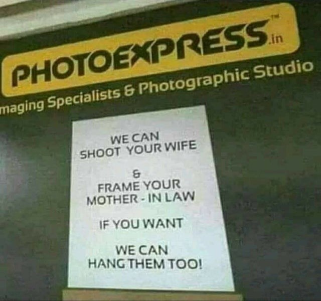 Yellow - .in PHOTOEXPRESS maging Specialists & Photographic Studio WE CAN SHOOT YOUR WIFE & FRAME YOUR MOTHER - IN LAW IF YOU WANT WE CAN HANG THEM TOO!