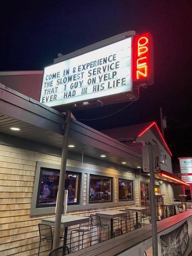 Night - COME IN &EXPERIENCE THE SLOWEST SERVICE THAT 1 GUY ON YELP EVER HAD IN HIS LIFE WAL ..... C.... A