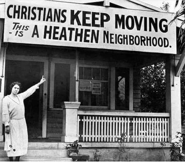Door - CHRISTIANS KEEP MOVING THIS A HEATHEN NEIGHBORHOOD. - IS MIPRT