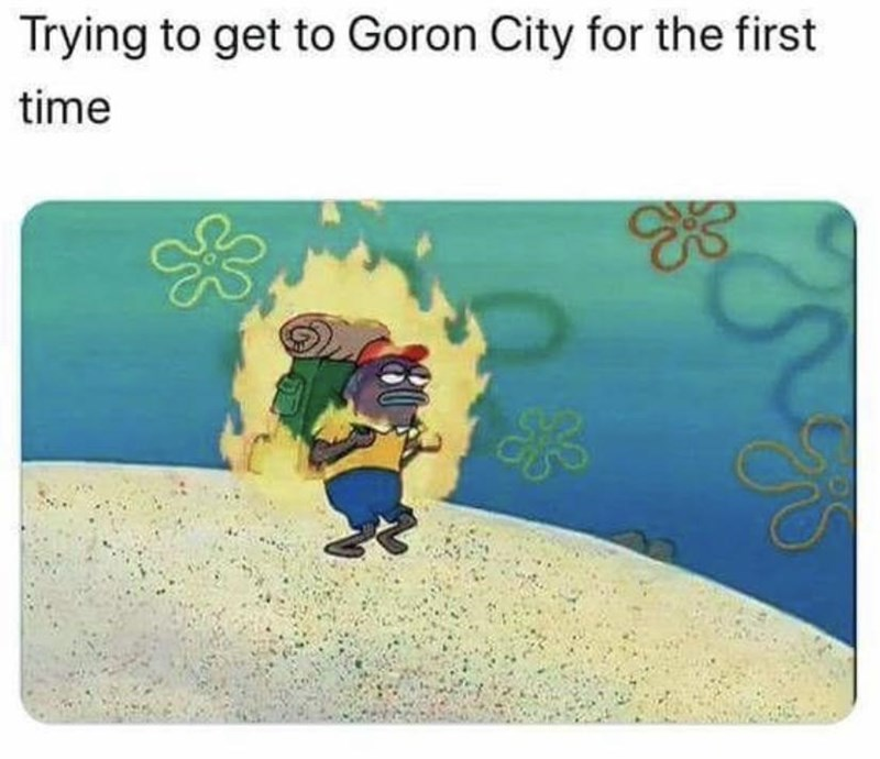 Animation - Trying to get to Goron City for the first time