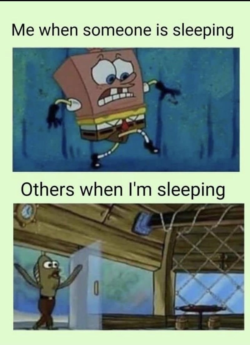 Animation - Me when someone is sleeping Others when I'm sleeping co