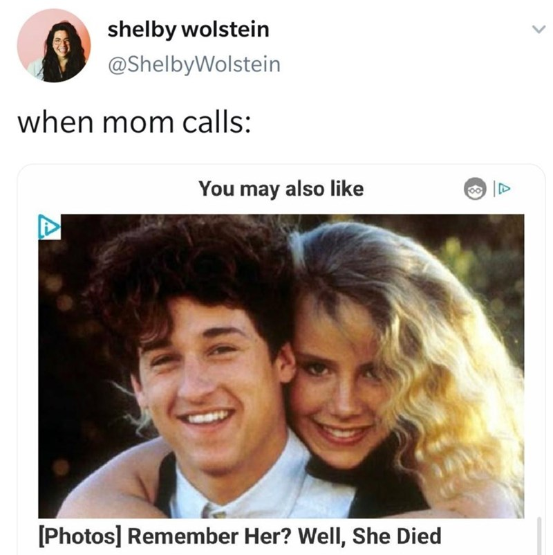 Head - shelby wolstein @ShelbyWolstein when mom calls: You may also like [Photos] Remember Her? Well, She Died