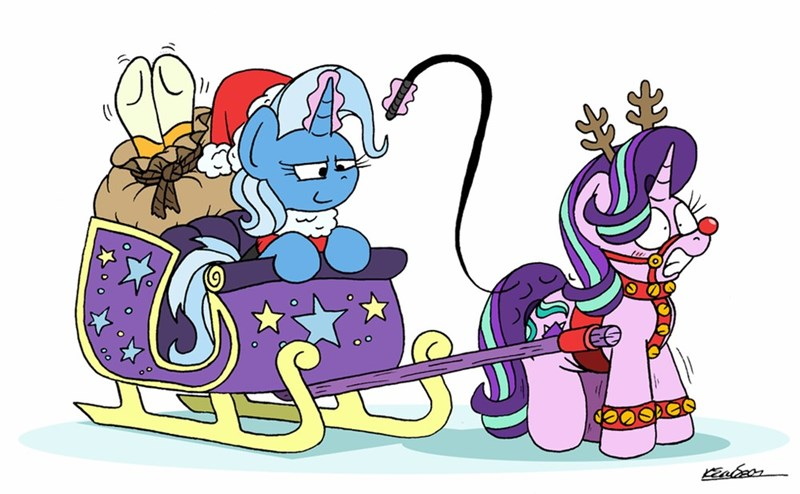 christmas the great and powerful trixie sunburst bob the dalek starlight glimmer - 9581693184
