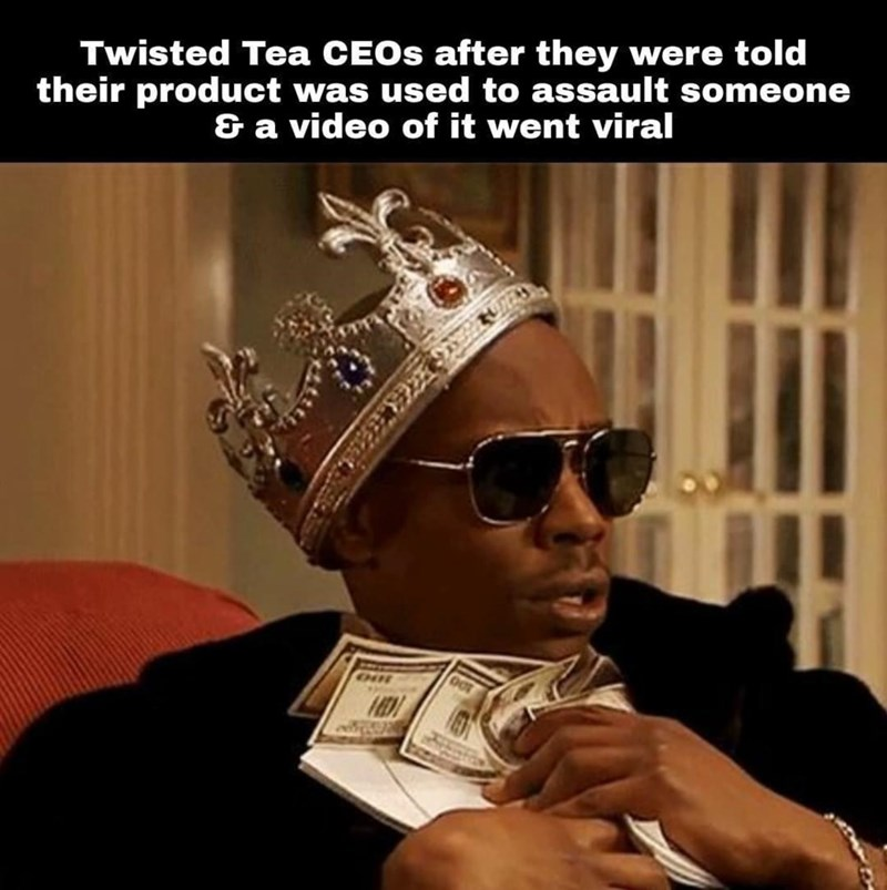Eyewear - Twisted Tea CEOS after they were told their product was used to assault someone & a video of it went viral